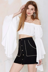 Nasty Gal After Party Vintage Give Them Bell Crop Top
