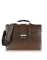 Giorgio Fedon 1919 New Class Leather Briefcase W Shoulder Strap Brown
