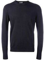 Drumohr Crew Neck Long Sleeve Sweater Grey