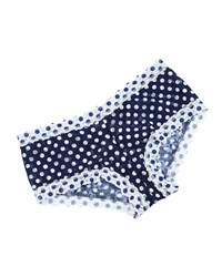 Hanky Panky Low Rise Dots And Spots Boyshorts Navy White