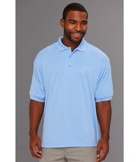 Columbia Perfect Cast Polo White Cap Men's Short Sleeve Pullover Blue