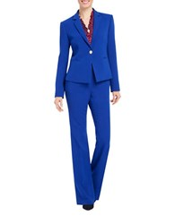 Ellen Tracy Notched Collar One Button Blazer Cobalt