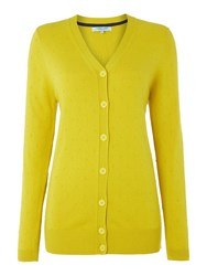 Dickins And Jones Longline French Knot Cardigan Mustard