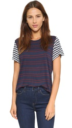 The Lady And The Sailor The Boy Tee Scarlet Stripe Grey Stripe