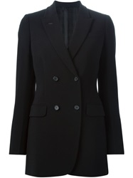 Agnona Double Breasted Blazer Black