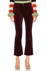 Ag Adriano Goldschmied Jodie Crop Button Up In Red