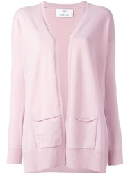 Allude Pocket Detail Cardigan Pink Purple