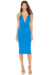 Becandbridge Electric Deep V Dress Blue