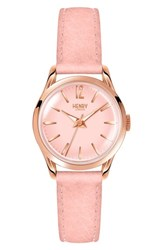 Henry London Shoreditch Leather Strap Watch 25Mm Nude Pink Rose Gold