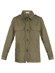 Raey Patch Pocket Twill Military Jacket Khaki