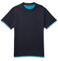 Christopher Kane Loopback Cotton Jersey T Shirt Midnight Blue