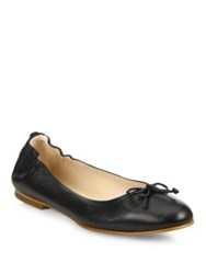 Lk Bennett Thea Leather Ballet Flats Navy Black Trench
