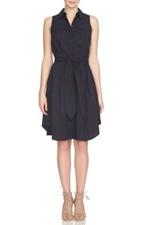 Cynthia Steffe Women's Collared Cotton Blend Fit And Flare Dress Caviar