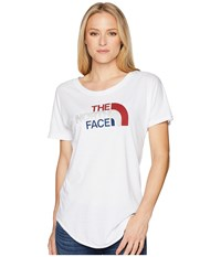 The North Face Americana Track Tee Tnf White Heather T Shirt Gray