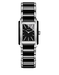 Rado Integral Stainless Steel And High Tech Ceramic Bracelet Watch Two Tone