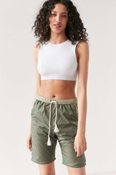 Without Walls Rita Longline Parachute Drawstring Short Olive