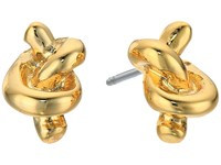 Lauren Ralph Lauren Smooth Operator Metal Knot Stud Earrings Gold Earring