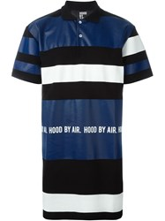 Hood By Air Panelled Oversized Polo Shirt Black