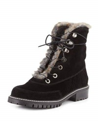 Stuart Weitzman Forest Faux Shearling Hiker Boot Gray