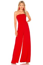 Amanda Uprichard Mandy Jumpsuit Red