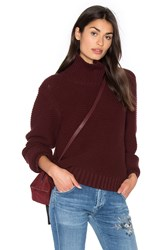 Vince Cowl Neck Sweater Burgundy