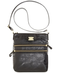 Style And Co. Veronica Crossbody Black Glazed With Gold
