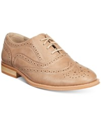 Wanted Babe Lace Up Oxfords Women's Shoes Taupe