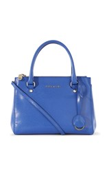 Karen Millen Medium Leather Tote Bag Blue
