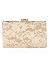 Chesca Lace Detail Clutch Bag Gold