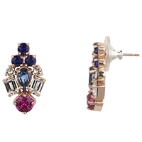 Cabinet Gold Plated Swarovski Crystal Paradisia Earrings Rose Gold