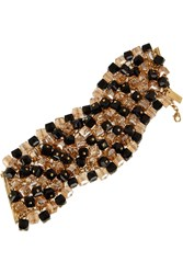 Etro Gold Plated Bead And Swarovski Crystal Bracelet