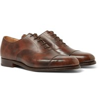 Tricker's Appleton Leather Oxford Shoes Brown