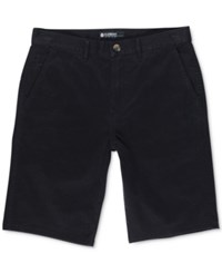 Element Men's Howland Classic Fit Cotton Walk Shorts Black