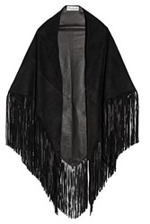 Barbajada Fringed Suede Wrap