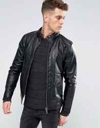 Blend Of America Faux Leather Jacket 70155 Black