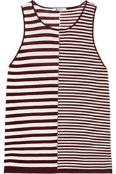 Alexander Wang T By Striped Jersey Tank Burgundy