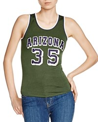 Maje Tiger Embroidered Tank Green