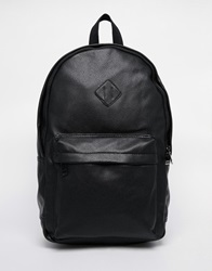 New Look Faux Leather Backpack Black