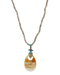 Garden Of Spring And Summer Labradorite And Horn Necklace Mcl By Matthew Campbell Laurenza