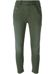 Diesel Cropped Tapered Jeans Green