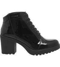 Vagabond Grace Lace Up Patent Leather Boots Black Patent