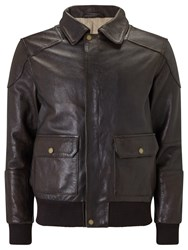 John Lewis And Co. Premium Leather Jacket Brown