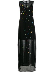 Maison Rabih Kayrouz Stone Embellished Maxi Dress Black