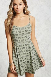 Forever 21 Elephant Fit And Flare Dress