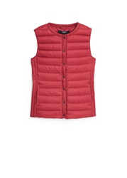 Mango Quilted Lightweight Nylon Gilet Red