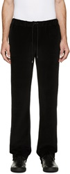 Versace Black Velour Tracksuit Pants