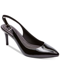 Rockport Women's Total Motion 75 Mm Pointed Toe Slingback Pumps Women's Shoes Black