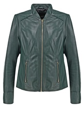 Oakwood Leather Jacket Dark Green