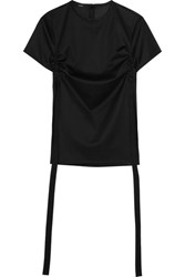 Ellery Menagerie Canvas Trimmed Cotton Jersey Top Black