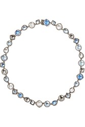 Larkspur And Hawk Sadie Riviere Rhodium Dipped Quartz Necklace Silver